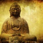 buddha statue with grunge texture